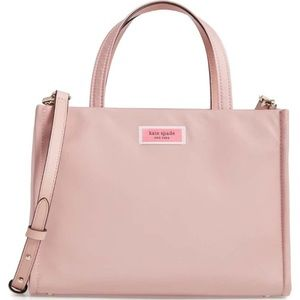 kate spade medium sam pink nylon satchel